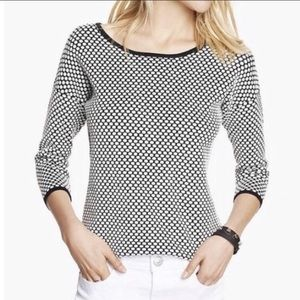 Grey and white polka dot sweater express